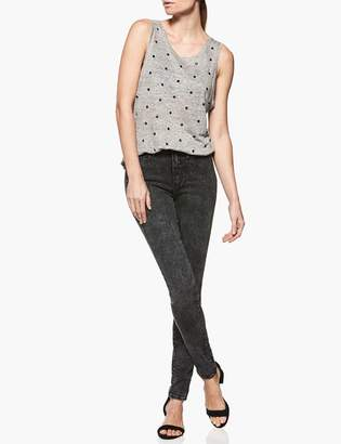 Paige Mikaela Tank - Heather Grey with Grommets