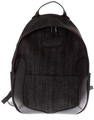 Maison Margiela Black Cotton Denim Backpack