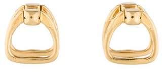 Hermes 18K Horsebit Cufflinks