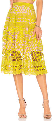Endless Rose Guipure Lace Midi Skirt