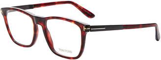 Tom Ford FT5351 Dark Tortoiseshell-Look Square Optical Frames