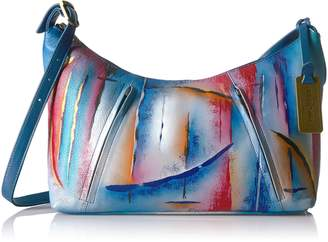 Anuschka ANNA by  Handpainted Leather Medium Zippered Hobo