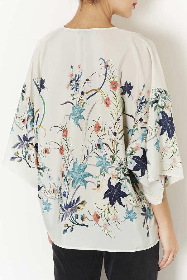 Topshop Floral Print Kimono