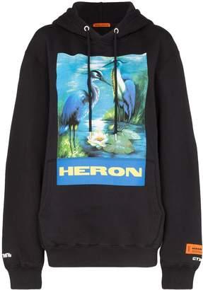 Heron Preston bird graphic hoodie
