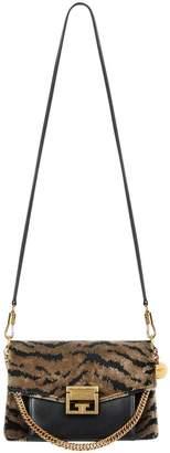 Givenchy GV3 Zebra Jacquard & Leather Crossbody Bag
