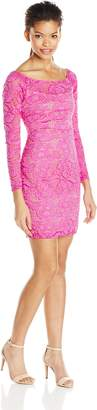 Jump Junior's Long Sleeve Rose Lace Short Dress