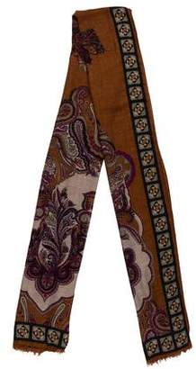 Etro Abstract Print Cashmere Blend Scarf