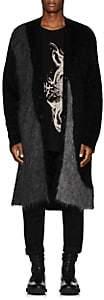 Yohji Yamamoto Men's Oversized Mohair-Blend Cardigan - Black