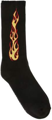 Palm Angels Flames Cotton Socks