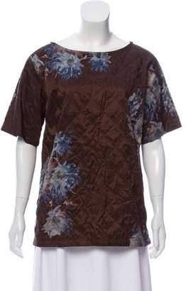 Dries Van Noten Printed Short Sleeve Top
