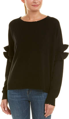 Current/Elliott The Ruffle Wool & Cashmere-Blend Sweater