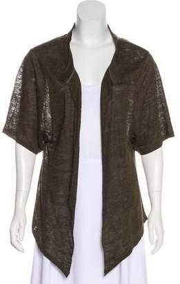 IRO Short Sleeve Linen Cardigan