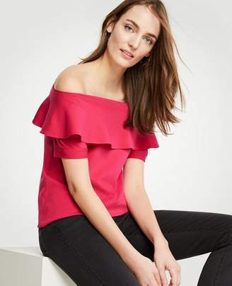 Ann Taylor Off The Shoulder Ruffle Top