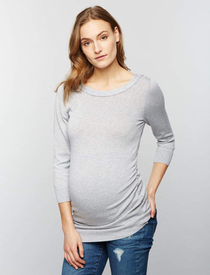 A Pea In The Pod Boat Neck Maternity Sweater