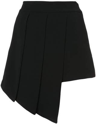 Valery Kovalska asymmetric draped shorts