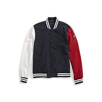 Tommy Hilfiger Adaptive Men's Baseball Jacket with Magnetic Buttons