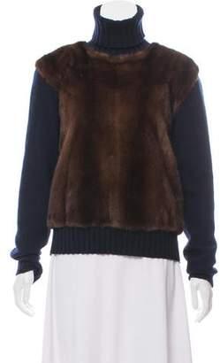 Celine Mink Wool & Cashmere-Blend Turtleneck