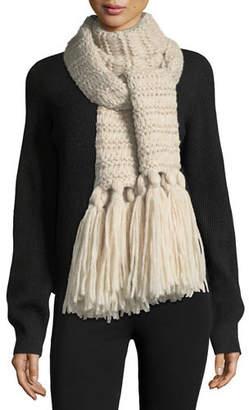 Il Borgo Knit Scarf w/ Long Tassels