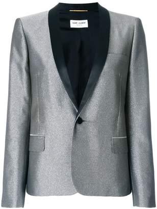 Saint Laurent metallic fitted blazer