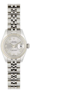 Rolex Bob's Watches Stainless-Steel with 18K White-Gold WomenS Date Watch