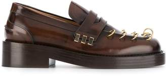 Marni ring-detail loafers