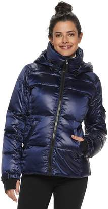Women's S13 Hooded Satin Down Puffer Jacket