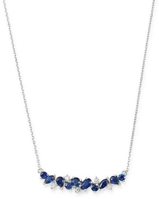 """Bloomingdale's Sapphire & Diamond Bar Necklace in 14K White Gold, 16"""" - 100% Exclusive"""