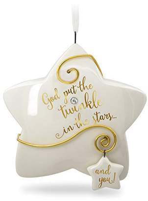 Hallmark Keepsake Christmas Ornament 2018 Year Dated Godchild Baptism You Shine Twinkle Star Porcelain