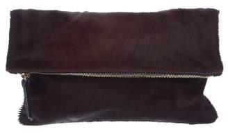 Clare Vivier Ponyhair Fold-Over Clutch