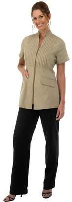 Canyon Rose Tuxedo Front Zip Salon Esthetician Jacket