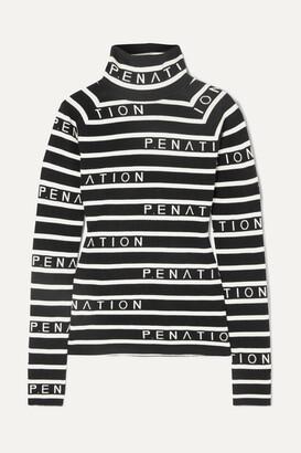 P.E Nation + Woolmark Cutline Striped Intarsia Wool-blend Sweater