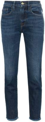 Frame Le Boy Straight Cropped Mid-Rise Jeans