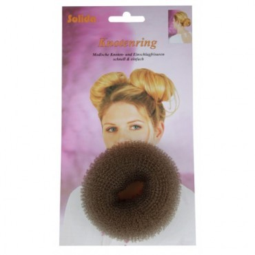 Solida Hair Donut Small Brown 6cm
