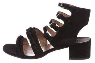 Laurence Dacade Suede Multi-Strap Sandals