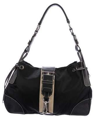 Prada Tessuto Buckle Shoulder Bag