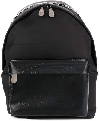 Philipp Plein logo embossed backpack