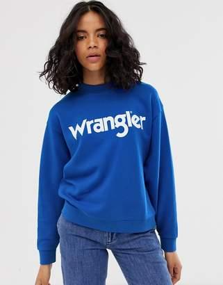 Wrangler retro sweatshirt with front logo