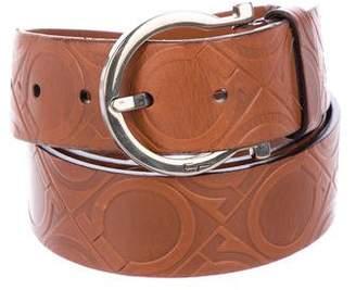 Salvatore Ferragamo Embossed Leather Belt