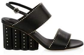 Salvatore Ferragamo Gavi Studded Wedge Sandals
