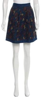 Timo Weiland Silk-Accented Mini Skirt