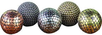 Cole & Grey 5 Piece Inlays Decorative Ball Set