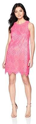 Eliza J Women's Petite Sleeveless Lace Shift Dress