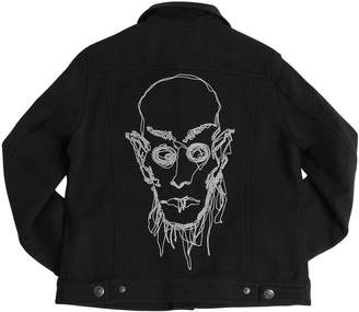 John Galliano Embroidered Cotton Sweatshirt Jacket