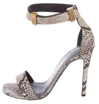 Celine Snakeskin Ankle Strap Sandals