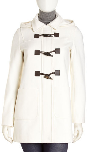 MICHAEL Michael Kors Wool-blend Toggle-button Pea Coat, Ivory