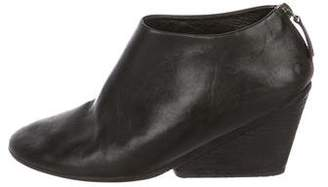Marsèll Leather Wedge Booties