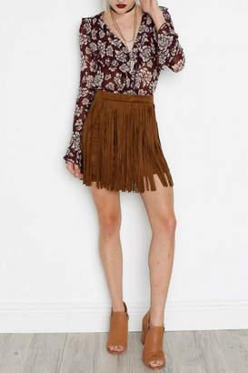 BB Dakota Faux Suede Skirt