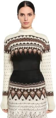 Loewe Wool Blend Jacquard & Jersey Top