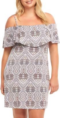 Tart Tacita Ruffle Bodice Cold Shoulder Dress