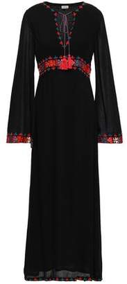 Talitha Collection Embroidered Woven Maxi Dress
